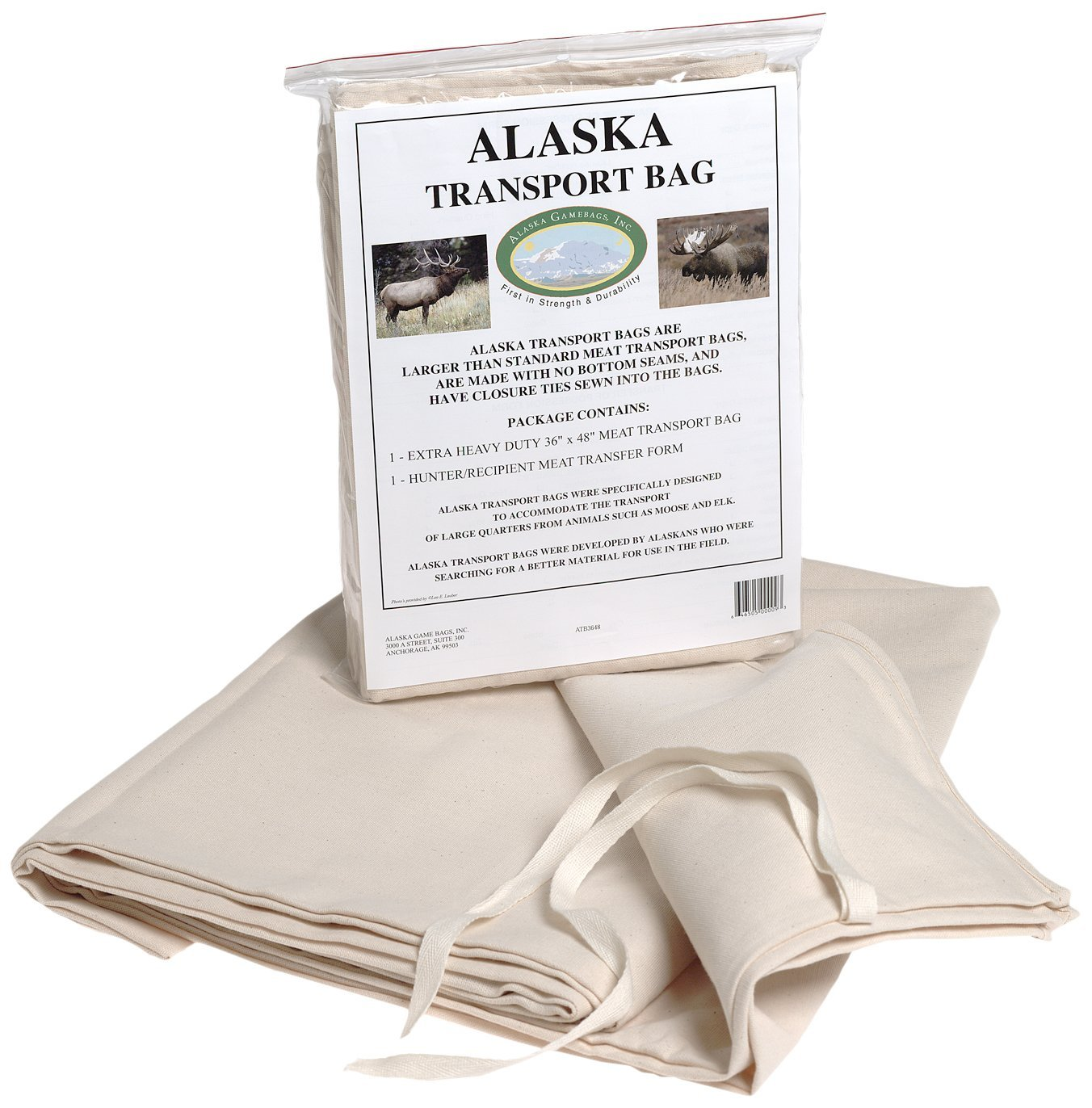 Alaska Game Alaska Moose/Elk/Bear Hide Transport Bag, 36X48-Inch
