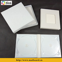 wedding leather case dvd white color media box