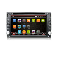 2016 New Arrival Dual Core 2 Din Universal Android 4.4.4 Car DVD Player with Radio Wifi GPS Navi TV Tuner