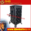 BHB top flue location wood burning cast iron stove
