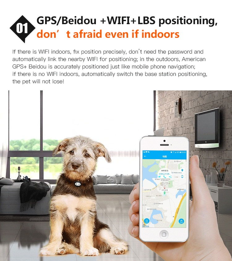 D79 pets gps dog cat tracker with led to find your pets easy in night