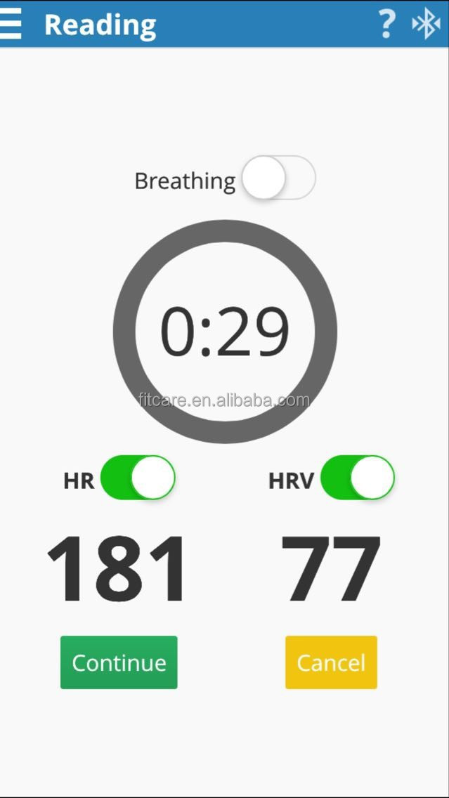 Elite HRV APP ANT+ Bluetooth Heart Rate Variability Monitor, View heart  rate variability, Fitcare Product Details from Shenzhen Fitcare Electronics