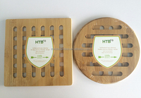 Bamboo Table Pads Bamboo Dinner Mat with Heat Dissipation Hole