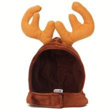 Hot Sale Pet Elk Reindeer Costume Decoration Cap Grooming Hat For Puppy Warm Cartoon Animal Pet Supplies