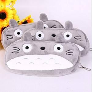 Totoro Cute Plush Pencil/pen Bag Zipper Coin Bag, Pen Pencil Stationery Pouch Bag Case, Cosmetic Makeup Storage Bag Pouch