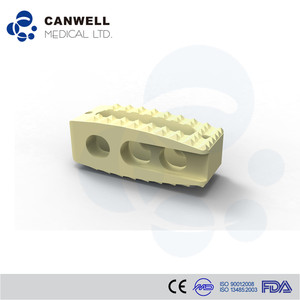 China Top Brand Canwell Bone Graft PEEK Lumbar Fusion Cage, spine instrument fusion enhanced CE/ISO certified