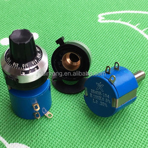 3540S 10-Turn Wirewound rotary Precision Potentiometer 100K w Dial Knob