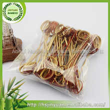Natural Red Color Bamboo Knotted Skewers For Bbq Wholesale