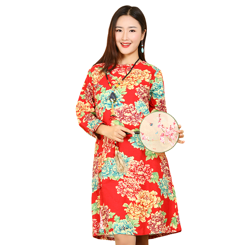 77bcd49767e Chinese Style Patterns Customized Printed Flower Girl Dresses - Buy ...