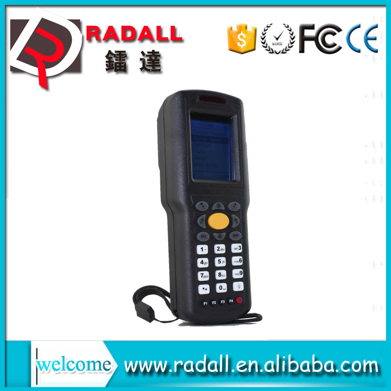 Trade Assurance RD 9800 wireless data collector handheld laser code bar scanner upload data to excel with keyboard