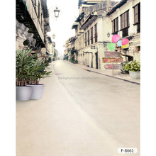 Factory Custom Made In China Digital Street Scene Wedding Dress Photographic Background/ Chinese City Street Backdrops