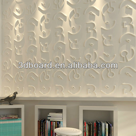 decorative wall paneling that looks like wallpaper