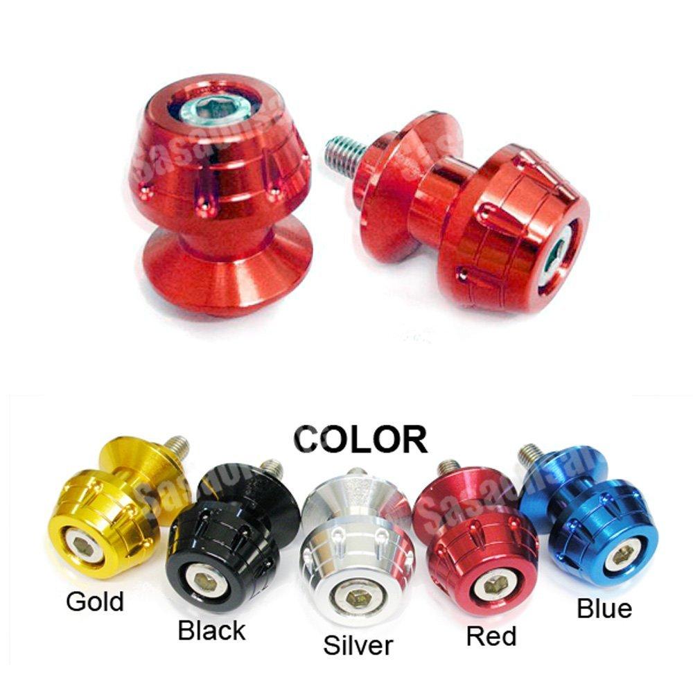 MIT Motors - RED - 6mm Universal Swingarm Spools - Yamaha YZF600 R6, YZF1000 R1, YZF 600, 1000, FZ-1, FZ-8, Aprilia RS50, RS125, RS250, Triumph Speed Triple 675, Daytona 675