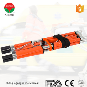 Ambulance collapsible aluminium alloy folding stretcher carry lock