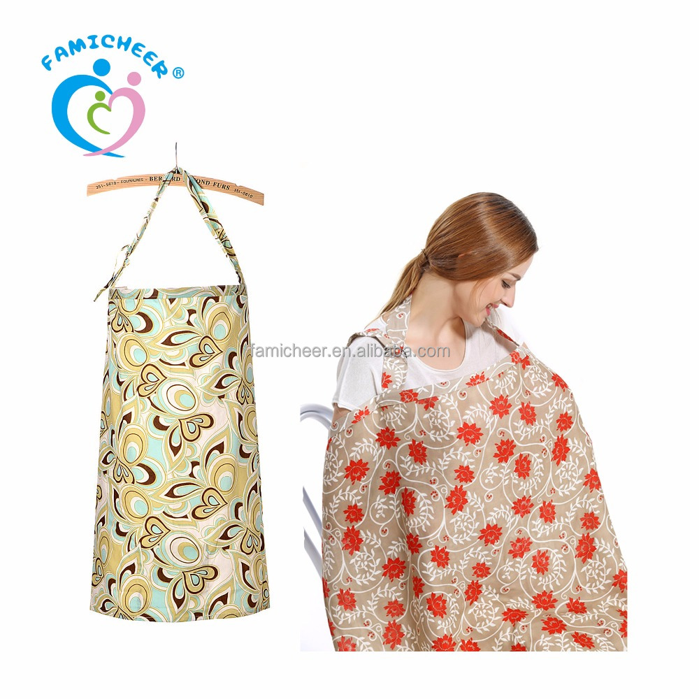 Custom Label Printed Cotton Nursing Breastfeeding Cover Nursing Scarf