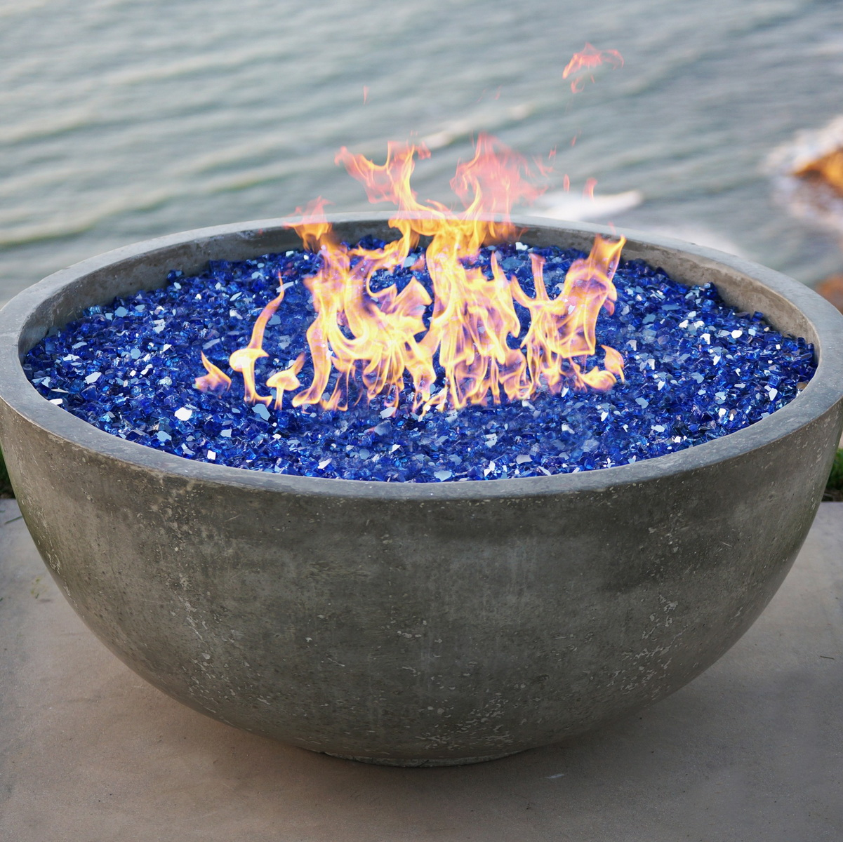 1/4 inch sapphire reflective fire pit glass for exterior