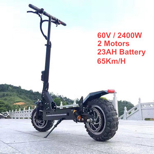 2018 New 11inch Off Road Electric Scooter 60V 2400W 65Km/h Strong powerful Foldable SUV Electric Bicycle bike motorcycle scooter