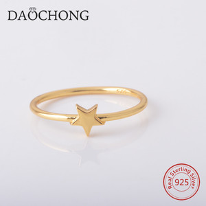 hot sale gold filled 925 sterling silver tiny star ring