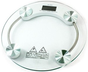 180kg Capacity New Design 6mm Thickness Round Shape Glassy Materials Bathroom Scale,LCD Display,CE,RoHS Certificate