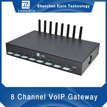 voip original developer and manufacturer,8 port 8 sim gsm gateway support USSD command for billing or recharge