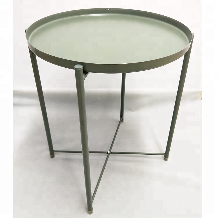 Small iron round Tray <strong>table</strong>