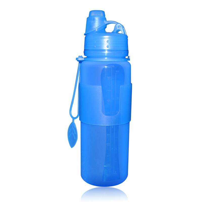 New premiun product collapsible water sport bottle silicone travel bottle foldable detox water bottle