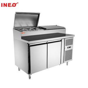 Stainless Steel Commercial Refrigeration Equipment/Refrigerator Display Topping/Small Refrigerated Display case