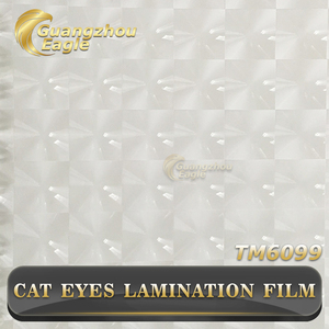 2017 Popular Transparent 3D Cat Eyes PVC Cold Lamination Film with Cat Eyes