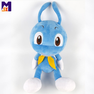 High quality custom size stuffed insect blue soft ant plush toy