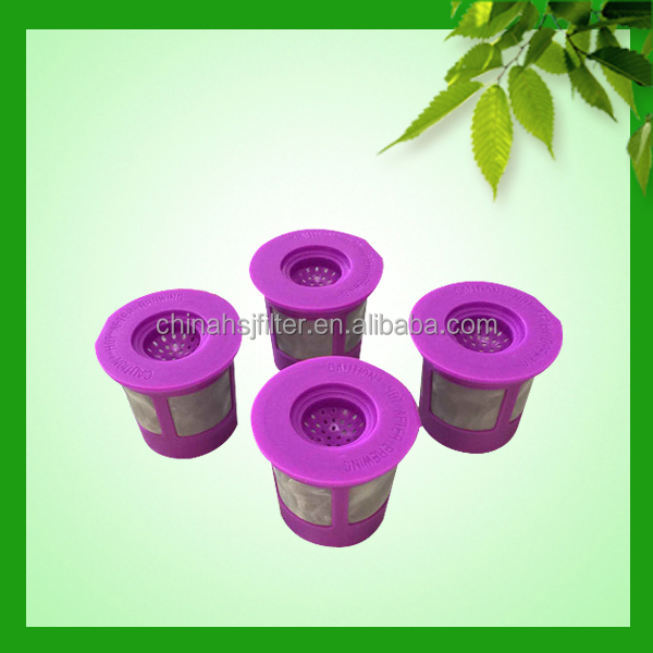 custom and sample free reusable single k cup coffee filter for Keurig with plastic material