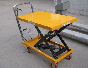150kg load capacity Trolley Manpower Trailer Scissor Table Work Lift Large QTY in stock