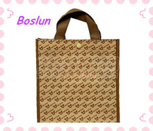 high quality durable folding non-woven fabric shopping bag
