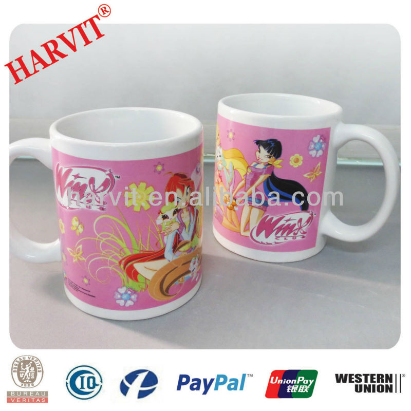 Fine Porcelain Tea Cups Cute Travel Ceramic Coffee Mugs Flying Fairy Figurines Promotional Items Made In China