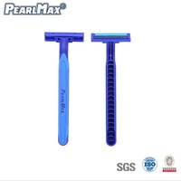 Cheaper Rubber Handle Twin Blade Razor Regular Disposable Razors Super stainless Razor Blades For Man