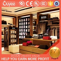 Casual Men retail store design with men clothing store fixture