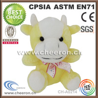 Manufacture high quality Plush Cow Stuffed Cow Soft Toy Cow for sale
