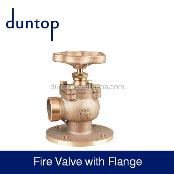 DN50 cw617n Brass fire hydrant landing valve with flange for fire fighting