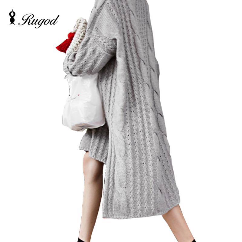 c52dd9b44e3 Hiver Crochet Tricoté Robe Femme Pull Robes Vintage 2016 À Manches Longues  O-cou Midi Genou-Longueur Lâche Coréenne L ukraine Ro.