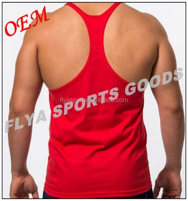 wholesale small MOQ 100 cotton colorful males stringer singlet