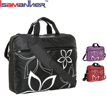 46751dd8574 17 Inch bloemen print waterdicht vrouwen laptop aktetas modieuze laptop  tassen