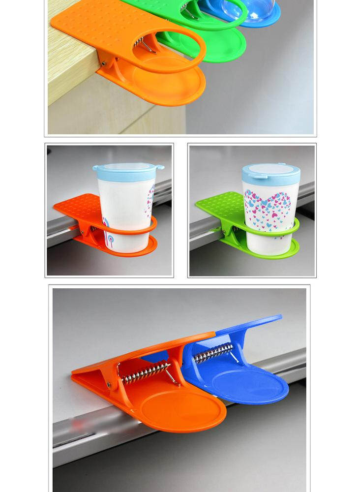 Office Table Glass Clip / Desk Cup Holder