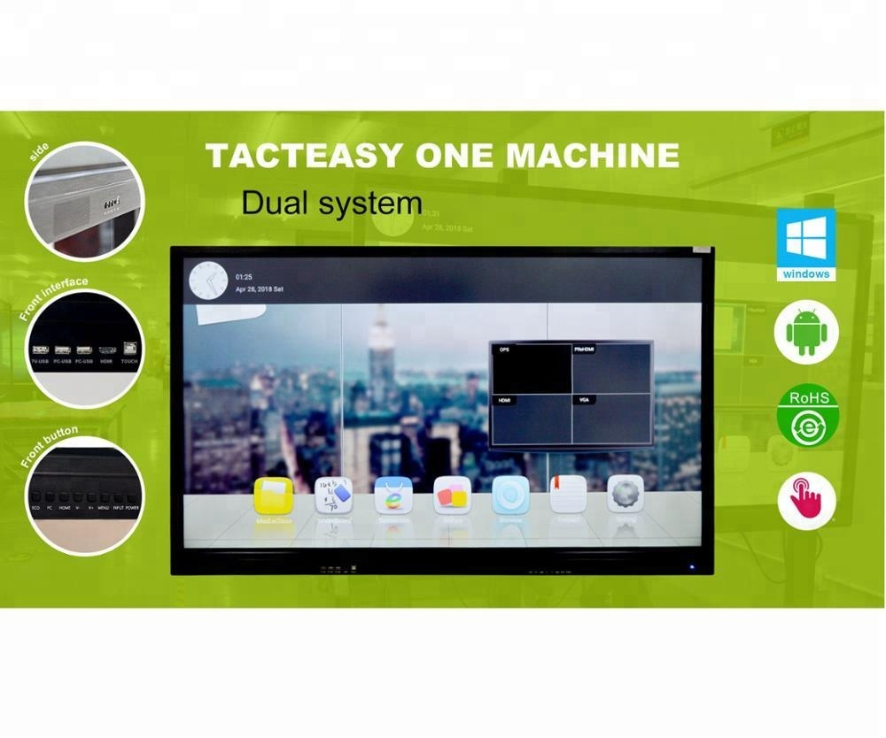 86 inch interactive flat panel multi touch screen interactive digital smart board