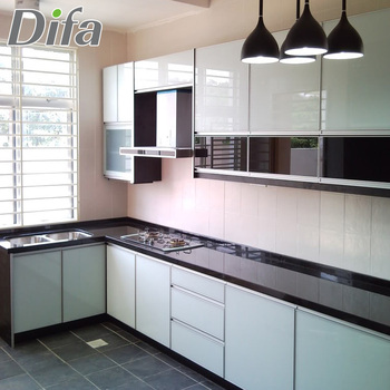 Custom High Quality Gloss Lacquer Kitchen Cabinet Doors Cabinets