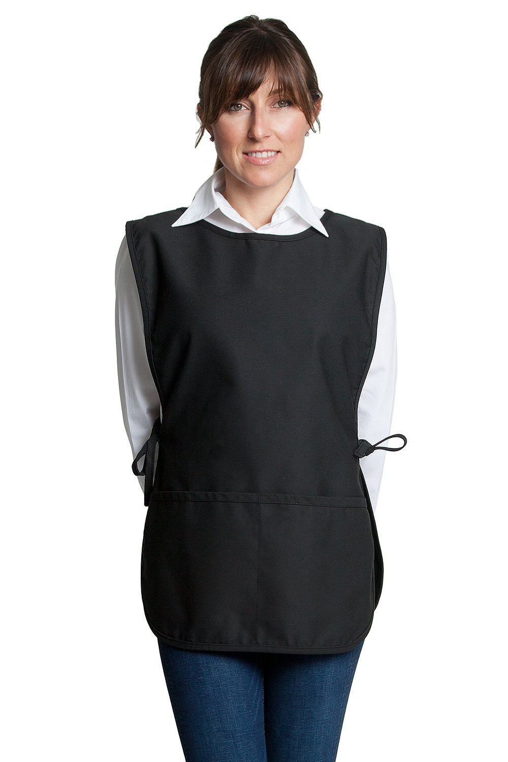 "Fiumara Apparel Cobbler Apron with 2 pockets Ideal for Kitchen - Black | 29"" L X 20"" W 