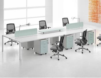 4 Seated Modular Office Linear Workstation Ol Cd 0432