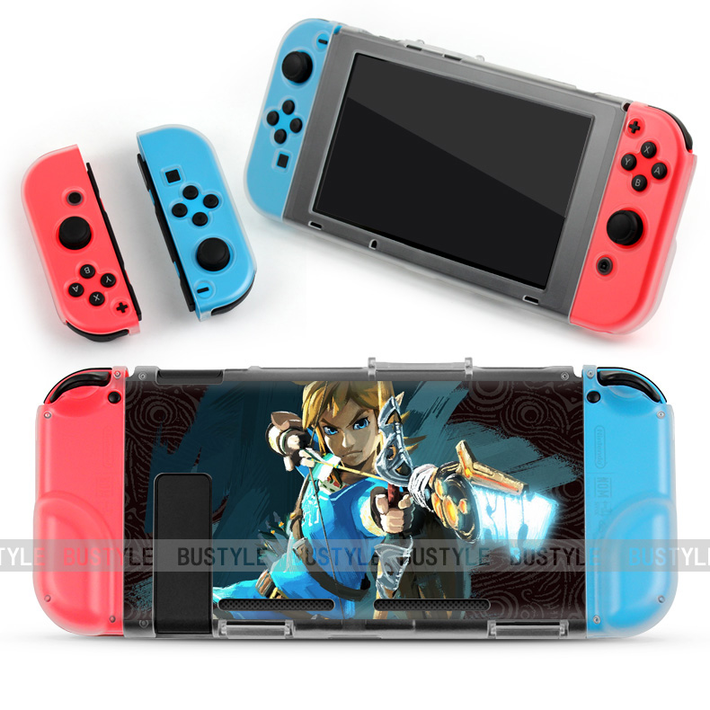 Custom Printed Clear PC Hard Crystal Case For Nintendo Switch