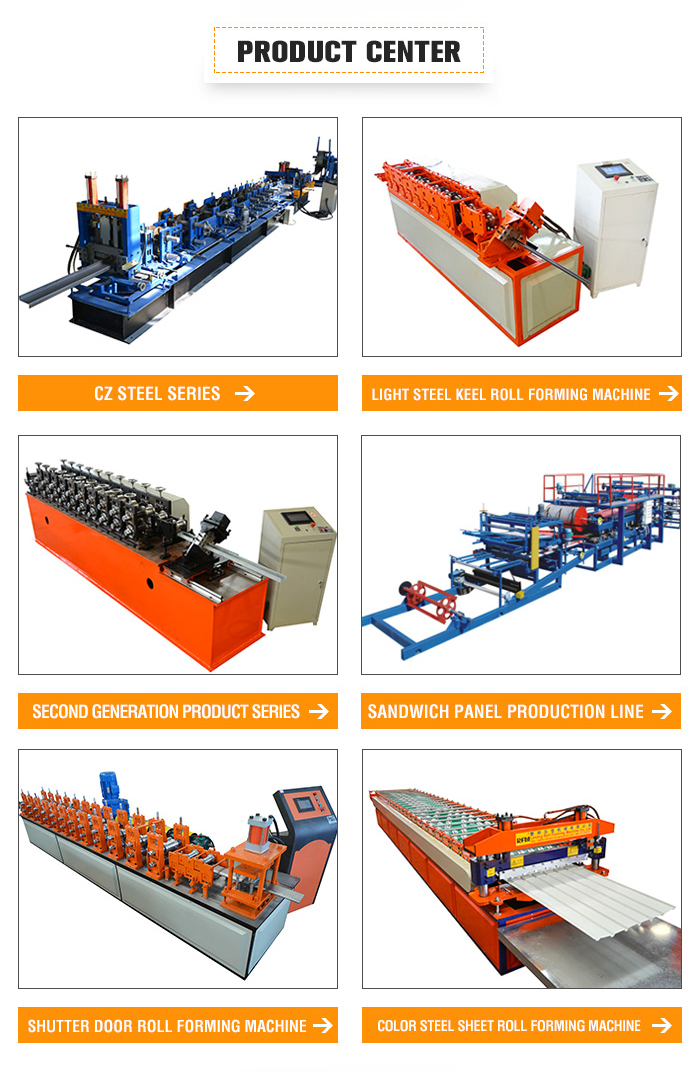 Fully Automatic High Speed Light Keel stud Steel Framing Roll Forming Machine