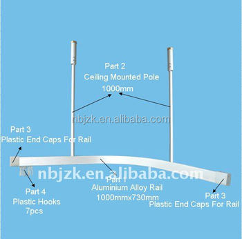 Hospital Using Ceiling Mounted Curtain Rail Track Rails Product On Alibaba