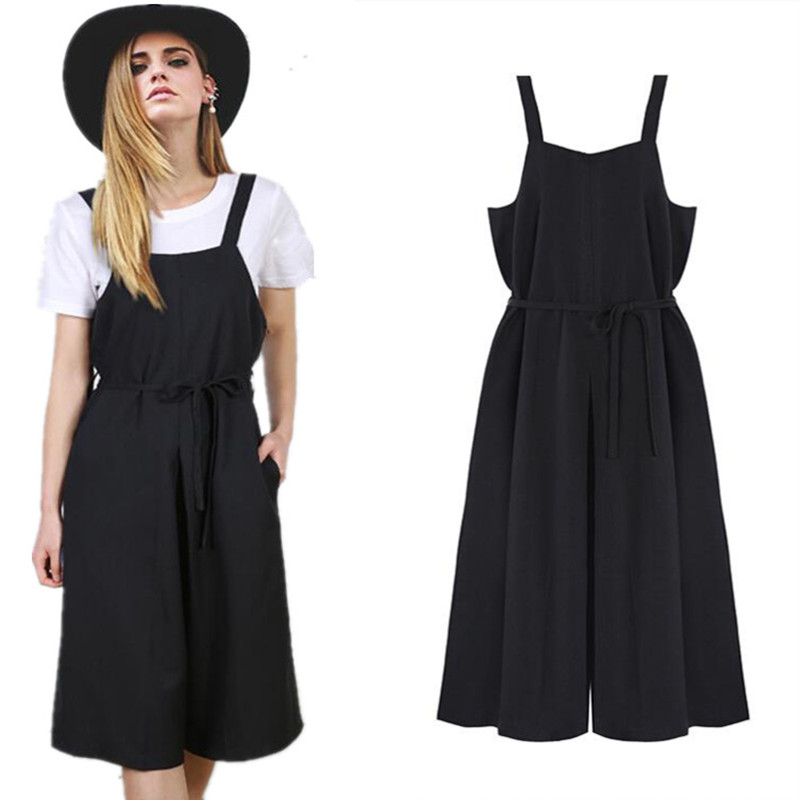 cb8c41e77a64 Buy Street women casual rompers womens jumpsuit summer loose palazzo pants  Wide leg cropped rompers playsuit overall in Cheap Price on m.alibaba.com