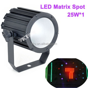 1x25W Single Matrix Gobo Letter Number Effect Led Spotlights Stage Lighting